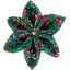 Star flower 4 hairslide deer - PPMC