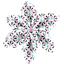 Barrette fleur étoile 4 eclats fluo - PPMC