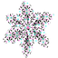 Pasador flor estrella astillas fosforescente