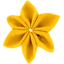 Star flower 4 hairslide yellow ochre