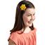 Pasador flor estrella amarillo ocre