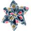 Barrette fleur étoile 4 soleil ethnique