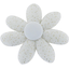 Fabrics flower hair clip white sequined - PPMC