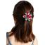 Pasador flor margarita  cerezo rubí