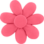Fabrics flower hair clip coral - PPMC