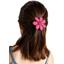 Barrette fleur marguerite etoile or fuchsia
