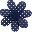 Barrette fleur marguerite etoile marine or - PPMC
