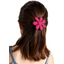 Fabrics flower hair clip fuschia