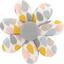 Barrette fleur marguerite gouttes pastel - PPMC