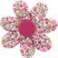 Barrette fleur marguerite jasmin rose - PPMC