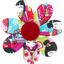 Pasador flor margarita  kokeshis - PPMC