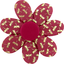 Fabrics flower hair clip ruby dragonfly - PPMC