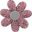 Barrette fleur marguerite lichen prune rose - PPMC