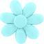 Fabrics flower hair clip azur - PPMC