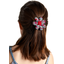 Fabrics flower hair clip poppy