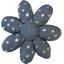 Barrette fleur marguerite etoile argent jean - PPMC