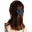 Fabrics flower hair clip etoile or marine