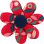 Barrette fleur marguerite pétale paprika - PPMC