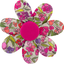 Fabrics flower hair clip purple meadow - PPMC