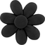 Fabrics flower hair clip black - PPMC