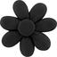 Barrette fleur marguerite noir - PPMC