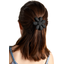 Fabrics flower hair clip black
