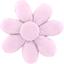 Barrette fleur marguerite oxford rose - PPMC