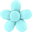 Mini flower hair slide azur - PPMC