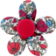 Mini flower hair slide poppy