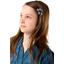 Mini flower hair slide pink blue dalhia