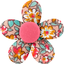 Mini flower hair slide peach flower - PPMC