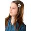 Petite barrette mini-fleur gouttes pastel