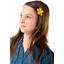 Petite barrette mini-fleur jaune ocre