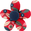 Mini flower hair slide paprika petal - PPMC
