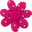 Barrette fleur marguerite pois fuchsia