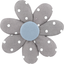 Fabrics flower hair clip light grey spots - PPMC