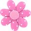 Barrette fleur marguerite pois rose - PPMC