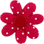Fabrics flower hair clip red spots