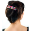 Large pleated hair slide kokeshis