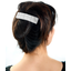Large pleated hair slide white