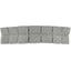 Grande barrette plissée etoile or gris - PPMC