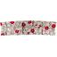 Grande barrette plissée fleurette rouge