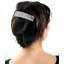Large pleated hair slide light grey spots