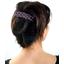 Large pleated hair slide plum spots