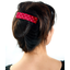 Large pleated hair slide red spots