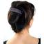 Large pleated hair slide plum