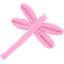 Barrette libellule rose