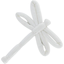 Dragonfly hair slide white
