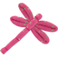 Dragonfly hair slide etoile or fuchsia