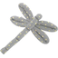 Dragonfly hair slide etoile or gris - PPMC
